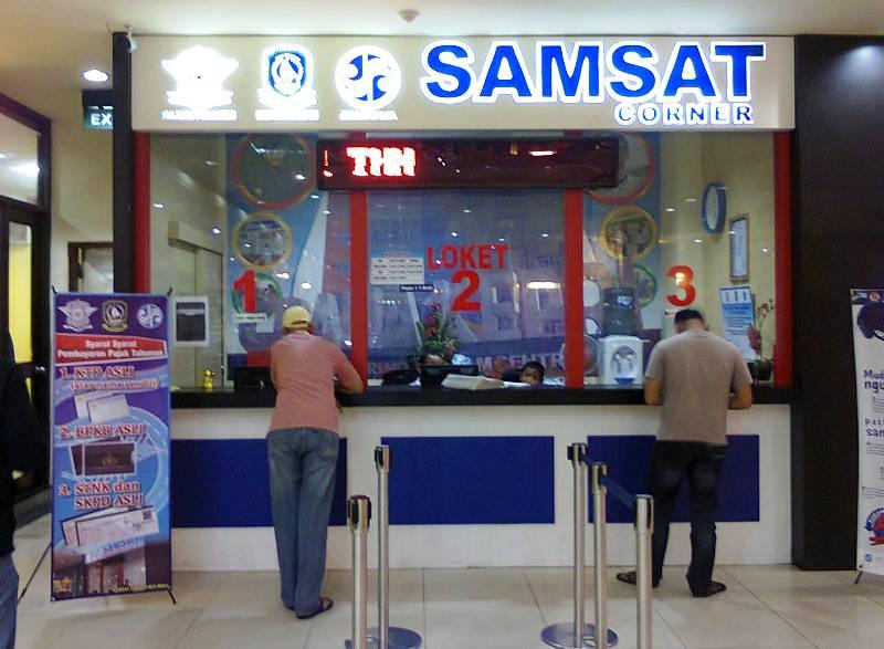 loket pajak kendaraan di SAMSAT
